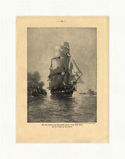 L' ultima vialetto del schulschiffes Niobe nei Kieler porto legno chiave GL 491
