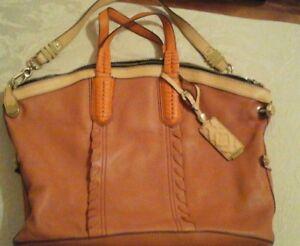 e00bcf04a0ad Aimee Kestenberg Tan Leather Hobo Bag w Braided Handles NEW NEVER ...