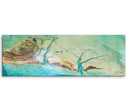 Leinwandbild Panorama blau grün braun Paul Sinus Abstrakt/_543/_150x50cm