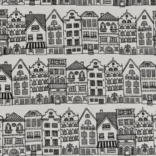 Dekostoff maisons Blanc Noir