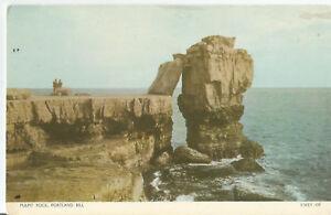 PORTLAND-BILL-PULPIT-ROCK-vintage-postcard-unused-AA