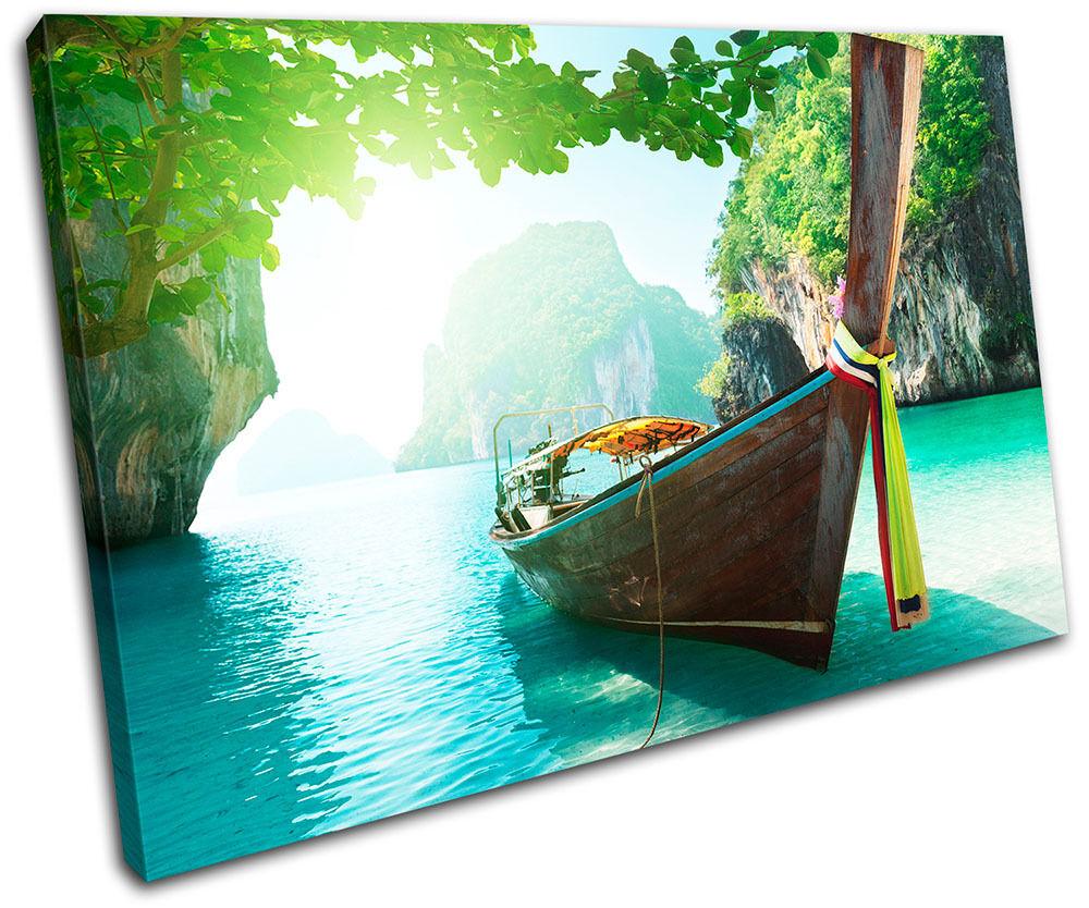 Andaman sea Thailand  Landscapes SINGLE TELA parete arte foto stampa