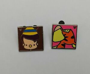 Disney-Hidden-Mickey-Mouse-Pins-Pinocchio-amp-Tigger-2013-Set-of-Two-Pre-owned