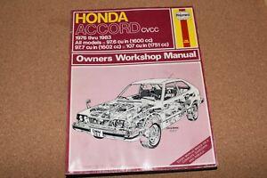haynes 351 repair workshop shop manual honda accord cvcc 1976 1985 rh ebay co uk 2015 Honda Accord 2015 Honda Accord
