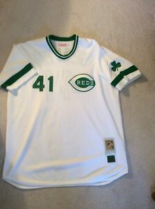 best sneakers d902a 81440 Details about New Cincinnati Reds 1981 Tom Seaver Saint Patrick's Day  Vintage Jersey 3XL Mets