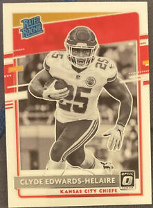 2020 Donruss OPTIC Clyde Edwards-Helaire RC RATED ROOKIE BLACK & WHITE MINT!