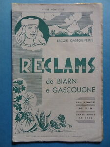 Reclams-Bearn-Gascogne-N-7-8-1962-Palay-Champignon-Osmin-de-Ricau-Picot-Bouzet