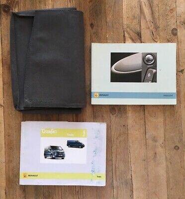 """100% Vero 01-06 Renault Trafic Proprietari Manuale Manuale E Portafoglio 06"""".-"""