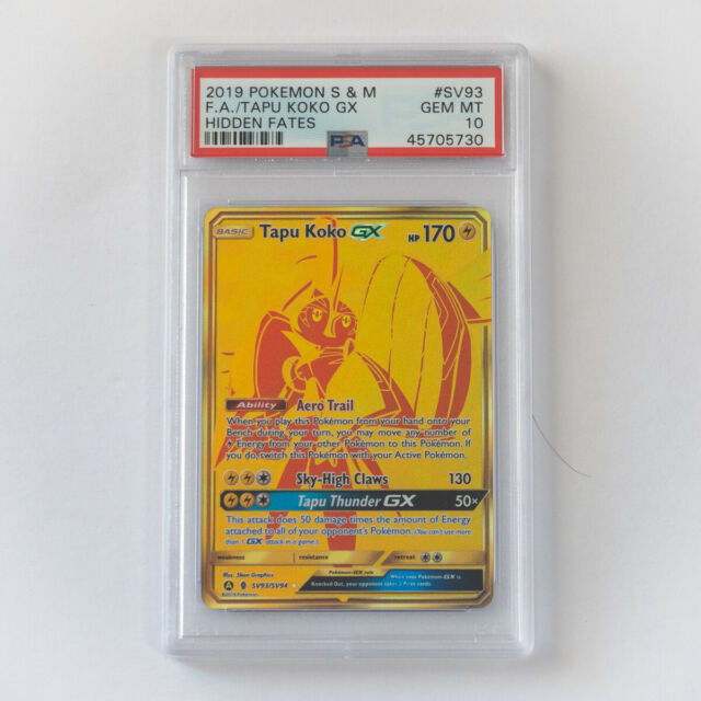 Pokemon Tapu Koko GX SV93/SV94 Shiny Holo Rare Hidden Fates PSA 10 Gem Mint