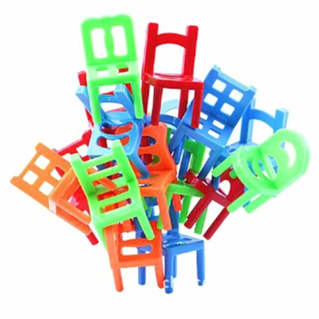 Mini Chair Toy Plastic Assembly Chairs Kids Educational Balancing Training Toys