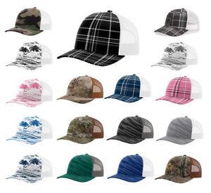 587cb95c Image is loading Richardson-Mens-Trucker-Patterned-Snapback-Cap-Baseball-Hat -