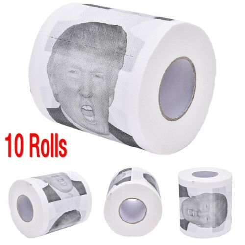 100Pcs Donald Trump Toilet Paper Roll Novelty Funny Gag Gift Dump with Trump