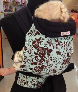 New Mei Tai Baby Sling Plus Size Carrier Brown Flower On Green Ebay