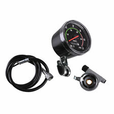 Analog Bicycle Speedometer Resettable Odometer Classic Style For Exercycle Bike