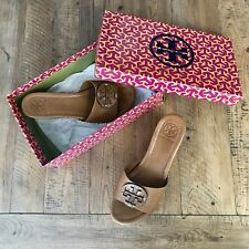 142311456907 item 3 Tory Burch Patti Tumbled Leather Wedges Royal Tan Size 8 -Tory Burch  Patti Tumbled Leather Wedges Royal Tan Size 8