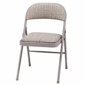 Meco Sudden Comfort Metal Fabric Padded Folding Chair Gray 4 Pack Open Box 42952127732 Ebay