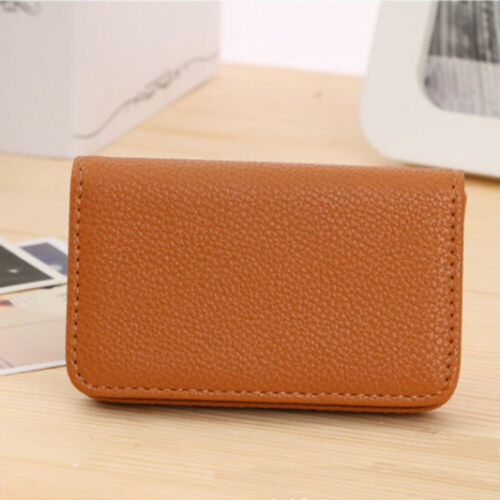 Luxury PU Leather Business Name Card Holder Case Bag Wallet