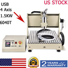 New Listing4 Axis 6040cnc Router Engraver Milling Machine Engraving Drilling Usb 1500w Usa