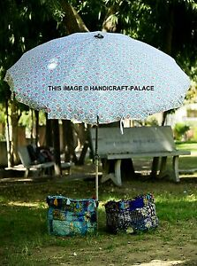 Nice Image Is Loading Indian Garden Parasol Floral Printed Canvas Outdoor Patio