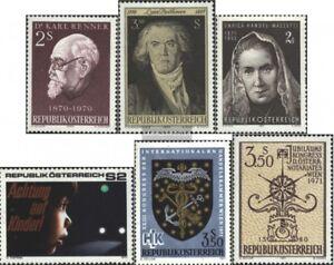 Austria-1351-1352-1353-1354-1358-1359-edicion-completa-usado