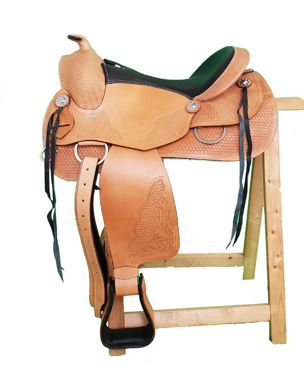 Western Saddle ATLANTA ECO buffalo leather high quality Reining Saddle New