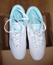 Reebok Women's White and Turquoise Princess Leather Tennis Shoes Sz 9 Never Worn