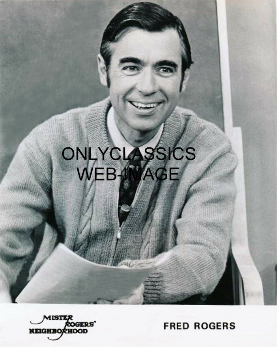Mister Fred Rogers Neighborhood Sweater On 8x10 Photo Children Television 1979 For Sale Online