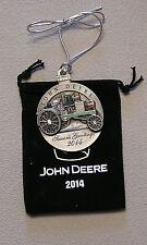 2014 John Deere Pewter Christmas Ornament