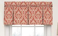 Waverly 15422052018cri Box Pleat Window Valance 52 X 18 Crimson