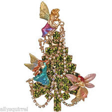 NEW KIRKS FOLLY FAIRIES IN THE MIST CHRISTMAS TREE PIN/ENHANCER  GT