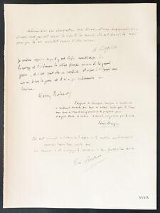 1926-Litografia-Henri-Bergson-Bordeaux-Paul-Bourget-Boutroux