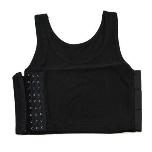 Lesbisch Brust Brust Binder Shorts Sport Unterhemd Korsett Bustier Tank Top Grau