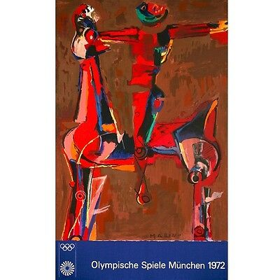 "/""Olympic 20/"" Color Lithograph by Marino Marini 40/""x25/"""