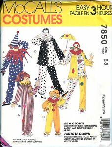 McCalls-7850-CLOWN-COSTUME-Adult-OR-Child-Sizes-Unisex-pattern-UNCUT-FF-NEW