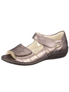 new concept d11be 9248f Details zu Waldläufer Damenschuhe Sandalette Sandale Bronze Pupms Leder  Weite K-und-M Neu