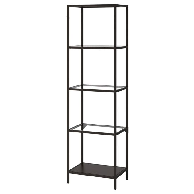 Peachy Ikea Vittsjo Shelf Unit Display Metal Frame Glass Shelves Black Brown Download Free Architecture Designs Intelgarnamadebymaigaardcom