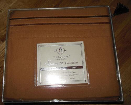 SANDERS CLARA CLARK DELUXE SUPREME 1500 TC COLLECTION DEEP POCKET 4 pc SHEET SET