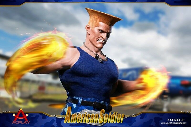 ACPLAY ATX044 1 6 Street Fighter US Soldier Set Double Head Sculpture B Fit M35