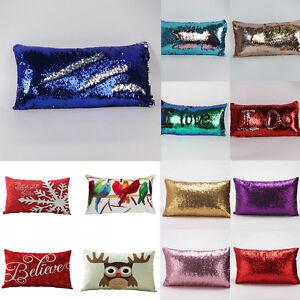 Rectangle-Sequins-Sofa-Bed-Home-Decor-Festival-Santa-Pillow-Case-Cushion-Covers