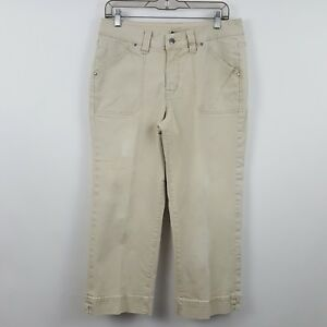 Jag-Flap-Pocket-Tan-Nude-Brown-Crop-Capri-Women-039-s-Casual-Pants-Sz-10-30-x-24