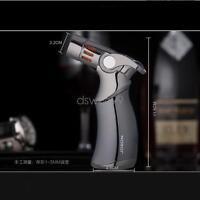JOBON Black Luxurious Windproof Quad Jet Flame Butane Gas Torch Cigar Lighter
