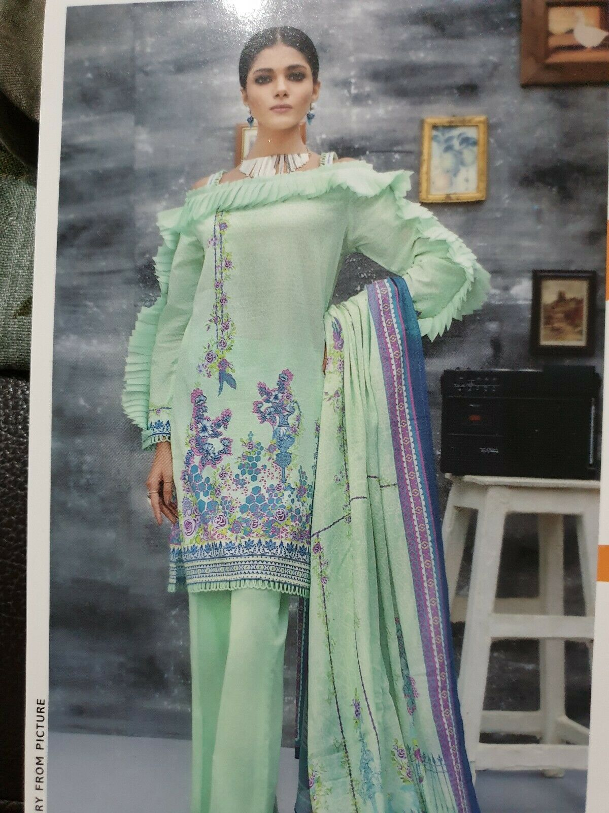 Gul Ahmed Mid-Summer Unstitched Suit CN-10 100% Original