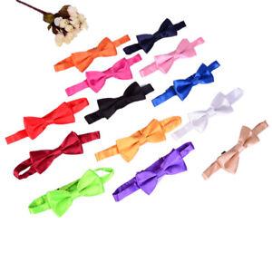Noeud-papillon-pour-enfants-Solid-Boys-couleur-enfants-attaches-Bowtie-bam-wSPFR