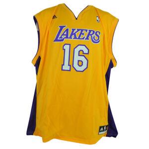 new product 83c0f 27fc6 Details about NBA Los Angeles Lakers Adidas Pro Cut Mens Adult Jersey Pau  Gasol 16 2XLarge XXL
