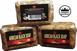 Raw-Unrefined-AFRICAN-BLACK-SOAP-7-oz-All-Natural-amp-Organic-From-Ghana