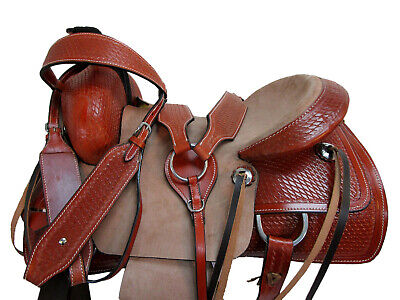 USED WESTERN SADDLE 15 16 17 ROPING RANCH WORK ROPER COWBOY RODEO LEATHER TACK