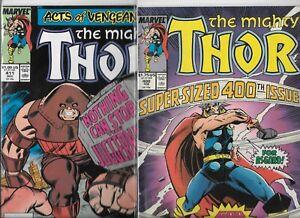 Thor-400-amp-411-Lot-of-2-1989-Marvel-Comics