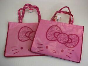 2 New Hello Kitty Bag Girl Shopping Bag Children Pink Pink Shopper Polyester