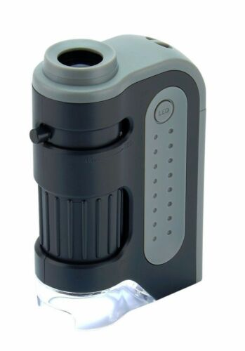 Carson Optical MM-300 Microbrite Plus 60X-120X LED Lighted Microscope Magnifier