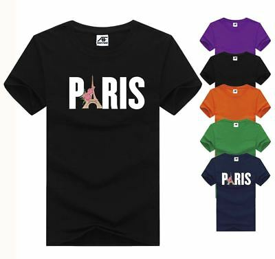Kreativ Paris Design Printed Tshirt Ladies Girls Short Sleeve Cotton Tee Top Gym Wear